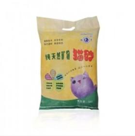 膨润土猫砂柠檬味猫砂10斤低粉尘结团