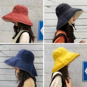 渔夫帽女夏韩版百搭日系防紫外线遮脸帽子太阳帽遮阳帽