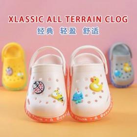 2020新款儿童洞洞鞋夏季儿童包头凉鞋男女童两穿舒