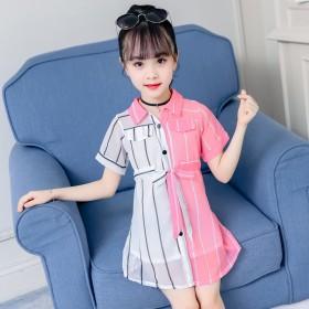 女童裙子韩版甜美时尚连衣裙长袖春款新款女童装公主裙