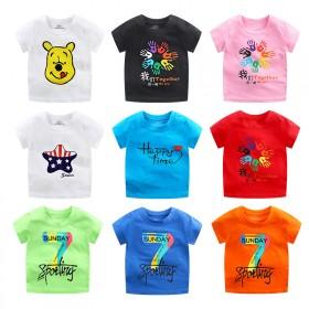 童装夏季纯棉儿童短袖T恤婴幼儿宝宝单上衣男女打底衫