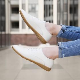 2020春新款牛筋底小白鞋真皮