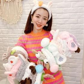 洗脸束发带女韩版化妆敷面膜发箍甜美可爱头饰简约发捆