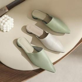 2020年春季拖鞋包头柔软舒适一脚蹬懒人鞋时尚简约