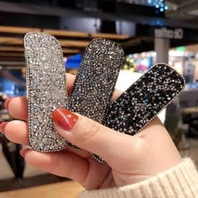 日韩网红流行时尚几何水晶水钻发夹个性刘海夹简约BB