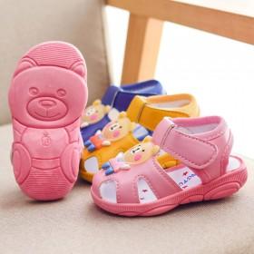 女宝宝凉鞋小童学步鞋可爱叫叫凉鞋小孩软底防滑凉鞋男