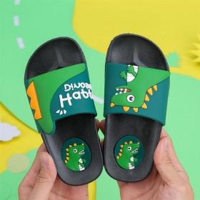 可爱卡通恐龙儿童凉拖鞋 室内居家软底防滑拖鞋