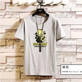 男短袖T恤夏季新款皮卡丘男生卡通打底衫