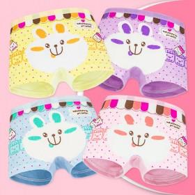 【3条】儿童纯棉裤衩女孩可爱卡通KT猫舒适内裤平角