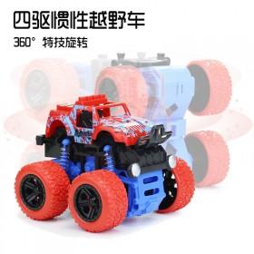 儿童山地耐摔惯性四驱越野车警汽车小玩具模型男孩宝宝