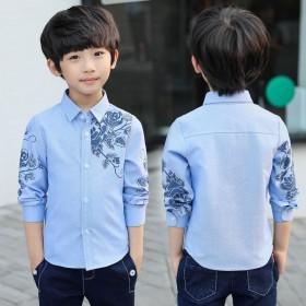 童装男童春秋装新款韩版长袖衬衫打底衫男孩上衣潮
