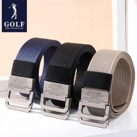 GOLF品牌休闲简约百搭男士帆布腰带双环扣裤带皮带