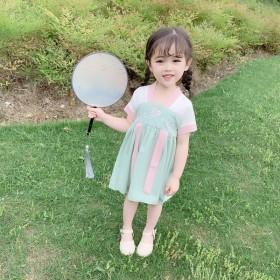 小童汉服连衣裙200新款女宝宝古装中国风裙子女童装
