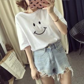 夏季新款韩版学生女士短袖T恤女学生衣服宽松上衣女装