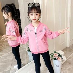 女童春装外套2020新款儿童夹克韩版童装女孩洋气网