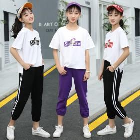 13岁女孩夏季初中小学生运动两件套