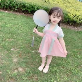 小童汉服连衣裙2020新款女宝宝古装中国风裙子女童