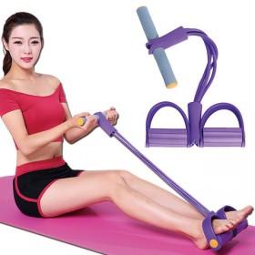 脚蹬拉力器仰卧起坐辅助健身器材家用拉力绳男女弹力绳