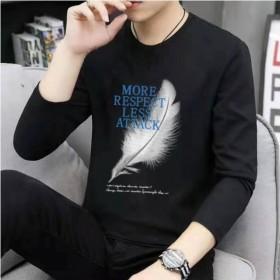 长袖T恤男韩版潮流打底衫2019秋季新款男士圆领上