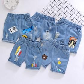 男童短裤夏季薄款儿童宝宝小童2020新款休闲破洞外