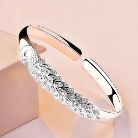 时尚学生日韩实心银镯子可调节简约纯手工个性ins银