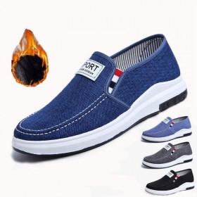 春秋新款帆布鞋男鞋老北京布鞋男鞋牛仔防滑耐磨低帮鞋