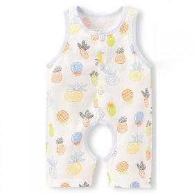 婴儿连体衣夏季薄款背心哈衣无骨