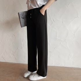 阔腿裤女高腰春夏拖地长裤垂感潮ins休闲学生直筒裤