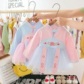 女童连衣裙2020新款秋装韩版洋气儿童蓬蓬纱裙子女