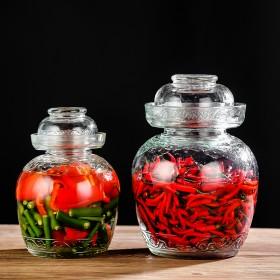 透明泡菜坛子加厚玻璃密封罐腌菜坛子咸菜缸腌蛋罐酸菜