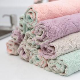 10条装厨房抹布洗碗布双面吸水不沾油家具清洁布家