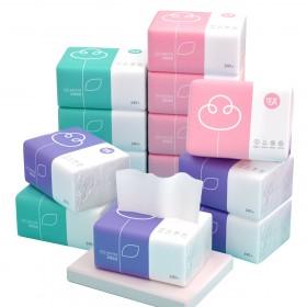 10包植护原木抽纸卫生纸家庭装厕纸纸巾餐巾纸面巾纸