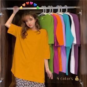 夏季新款短袖T恤女学生韩版宽松百搭半袖体恤原宿风中