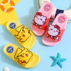 儿童夏季女童男宝宝卡通小孩室内家用防滑软底凉拖鞋
