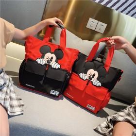 新款小学生补习袋拎书袋帆布米奇儿童补课书包男女旅行