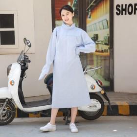 骑车防晒衣女夏季全身电动车纯棉中长款防紫外线摩托车