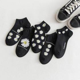 春夏新款 吸汗雏菊袜子艺人同款男女情侣袜个性XSF