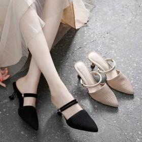 31-43码大小码女鞋高跟鞋两穿凉拖鞋