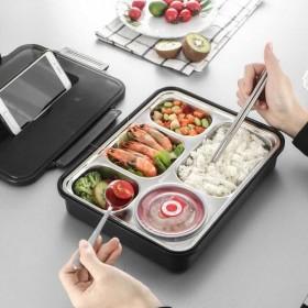 不锈钢餐盒方形学生