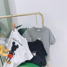 亲子装2020夏新款男童女童夏纯棉T恤