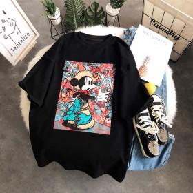 宽松大码鼠年ins新款短袖T恤女2020夏季新款
