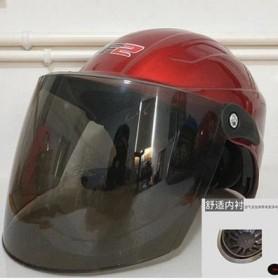 头盔男士电瓶车头盔电动摩托车女款四季半盔夏季防晒轻