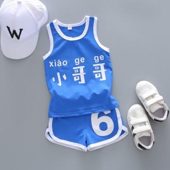 男童背心套装2019新款夏季童装宝宝儿童中小童无袖