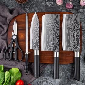 德国厨房菜刀全钢刀具套装家用厨房五件套切菜刀砍骨刀
