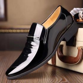 花花公子男士休闲皮鞋商务韩版正装皮鞋男伦休闲工作鞋