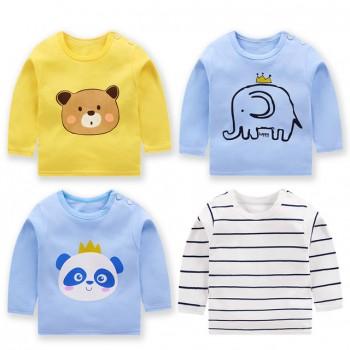 春款童装儿童长袖t恤纯棉卫衣男宝宝单件上衣女童打底