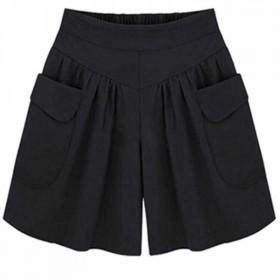 胖mm夏季短裤女装200斤特大码短裤女欧美风宽松阔