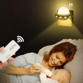 遥控小夜灯卧室床头婴儿宝宝哺乳喂奶用台灯夜光节能插