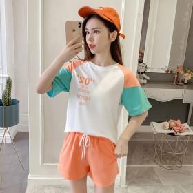 2020新款夏季韩版短袖短裤女两件套