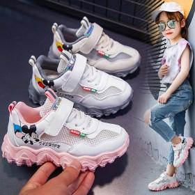 运动鞋春夏季单鞋韩版百搭女童鞋网面透气运动鞋网鞋